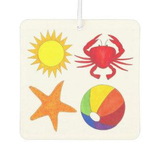 Personalized Beach Sun Beachball Crab Starfish Air Freshener