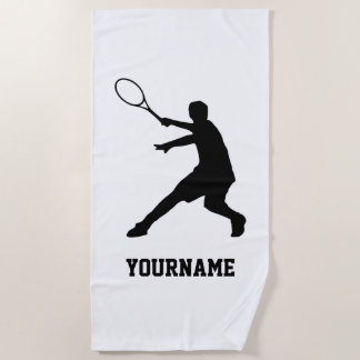 Personalized beach towel for tennis player & coach