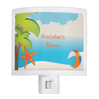 Personalized Beach Tropical Night Light