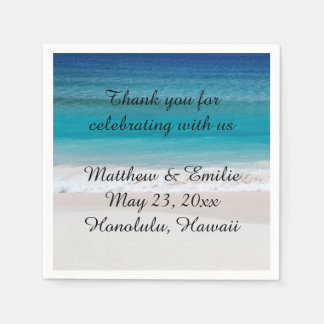 Personalized Beach Wedding Napkins