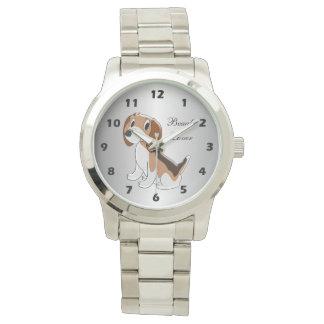 Personalized Beagle Dog Design Watch