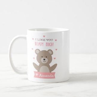 Personalized Beary Valentine Mug
