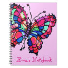Personalized Beautiful Butterfly Notebook