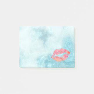 Personalized Beautiful Lips on marble Post-it Notes