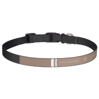 Personalized Beaver Brown High End Colored Pet Collar