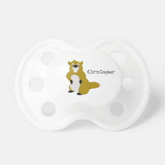 Personalized Beaver Design Pacifier