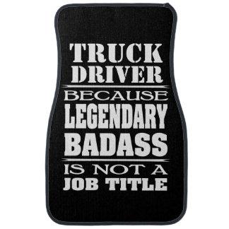 Personalized Because Job Title Legendary Badass Car Mat