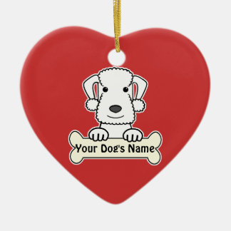 Personalized Bedlington Terrier Ceramic Ornament