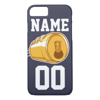 Personalized Beer & Football iPhone 7 Case