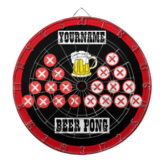 Personalized Beer Pong Dart Board