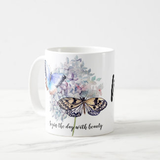 Personalized Begin the Day with Beauty Coffee Mug