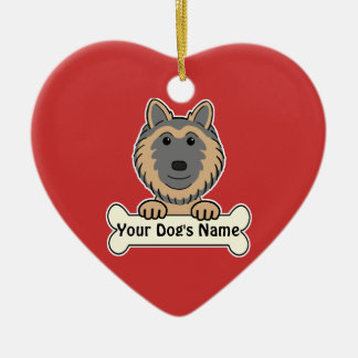 Personalized Belgian Tervuren Ceramic Ornament