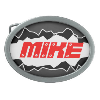 Personalized belt buckle with custom name