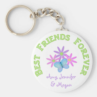 Personalized Best Friend Forever Keychain