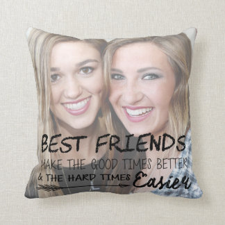 Personalized Best Friend Photo Pillow