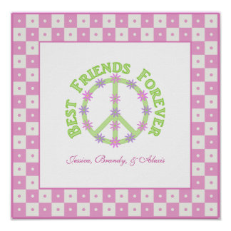 Personalized Best Friends Forever Poster