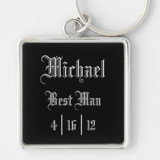 Personalized Best Man Keychain