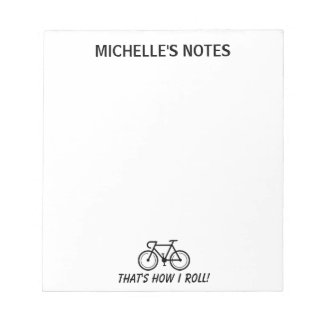 Personalized bicycle template memo writing notepads