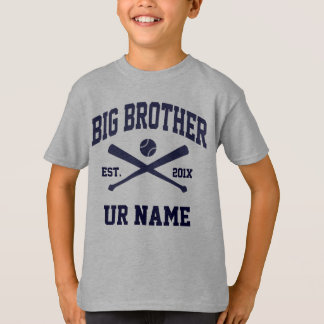 Personalized Big Brother Baseball T-Shirt