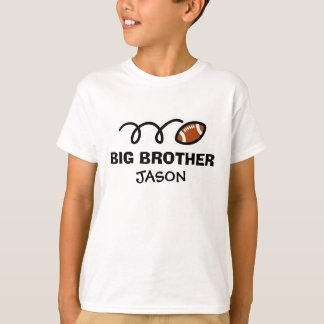 Personalized big brother football shirt for boys