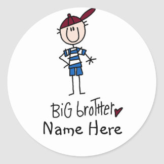 Personalized Big Brother Tshirts and Gifts Stickers