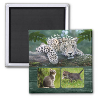 Personalized Big Cat Your Animal Photos Magnet