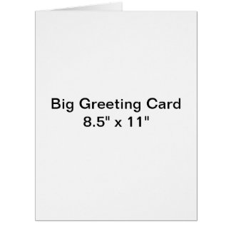 Personalized Big Greeting Card