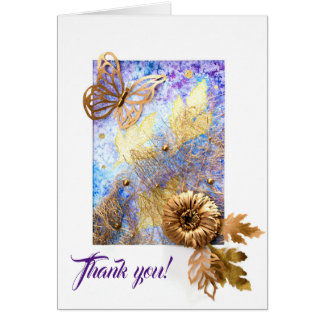 Personalized Big Greeting Card with Butterfly