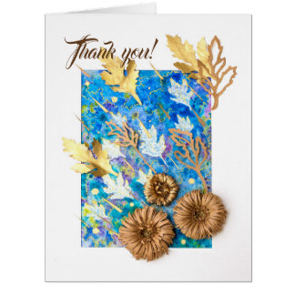 Personalized Big Greeting Card with Chrysanthemum
