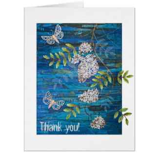 Personalized Big Greeting Card with Night Moths