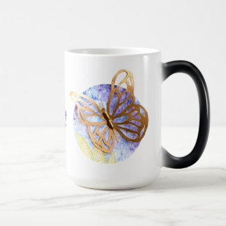 Personalized Big Morphing Mug with Butterflies