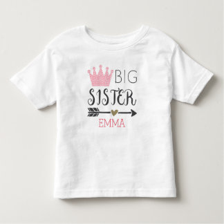 Personalized Big Sister Toddler T-shirt