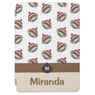 Personalized Big Smile Sock Monkey Emoji iPad Air Cover