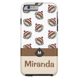 Personalized Big Smile Sock Monkey Emoji Tough iPhone 6 Case