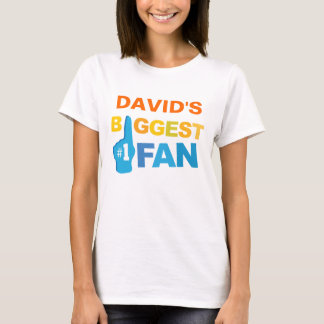 Personalized Biggest Fan sports hand T-Shirt