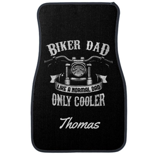 Personalized Biker Dad Like Normal Dad Only Cooler Auto Mat