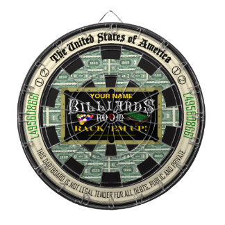 Personalized Billiards Room Dartboards