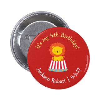 Personalized Birthday Badge- Circus Theme 2 Inch Round Button