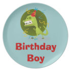 Personalized Birthday Boy Melamine Plates for Kids