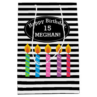 Personalized Birthday Candles Gift Bag