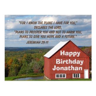 Personalized Birthday Christian Prayer Scripture Postcard