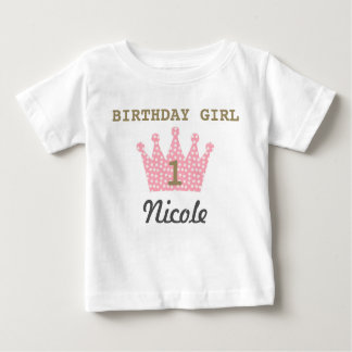 Personalized Birthday Girl Crown Shirt