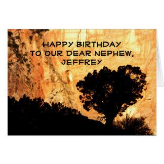 Personalized Birthday Greeting Card, Nephew, Tree Card