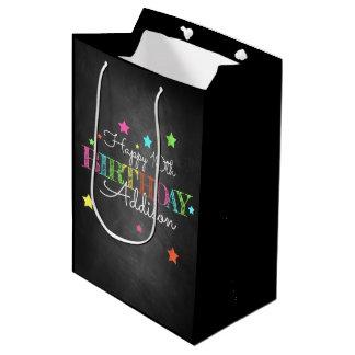 Personalized Birthday Medium Gift Bag