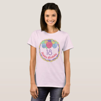 Personalized Birthday Party Favor Rose Flower Cake T-Shirt