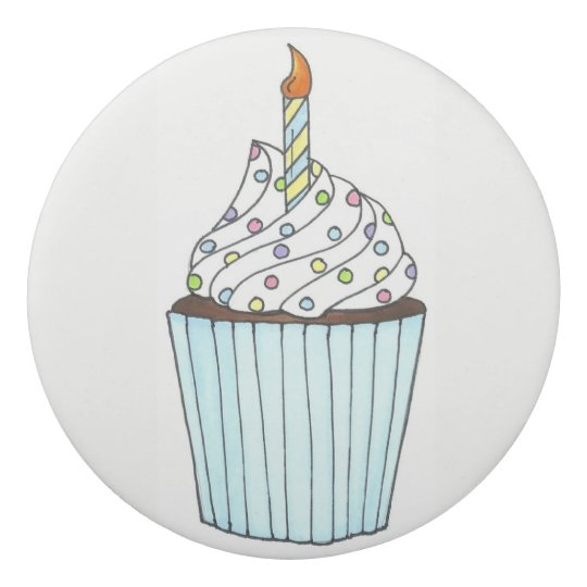 Personalized Birthday Party Favour Cupcake Candle Eraser