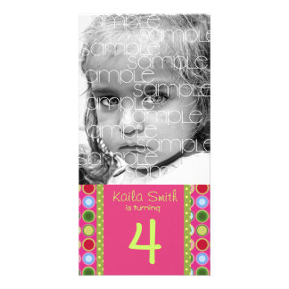 PERSONALIZED BIRTHDAY PHOTO CARD