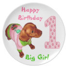 Personalized Birthday Plates Babies 1st Birthday