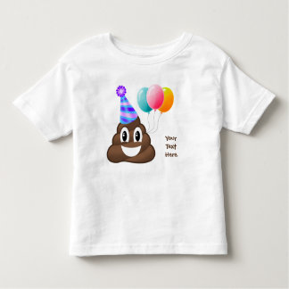 Personalized Birthday Poop Emoji Toddler T-Shirt