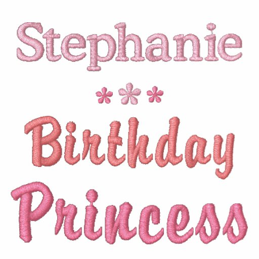 Personalized Birthday Princess Embroidered T-Shirt